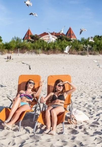 Plaża przy Villa del Mar