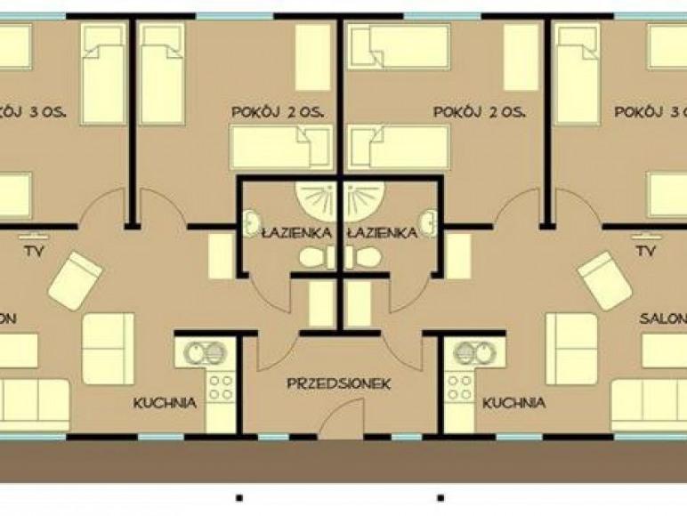 Domek - rozkład pomieszczeń