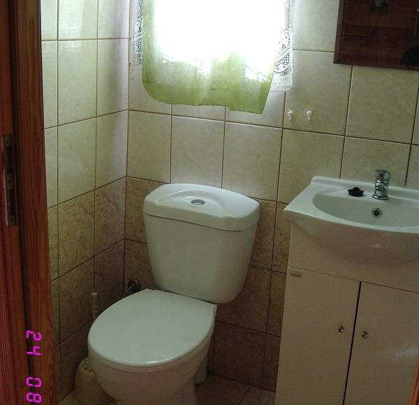 wc z natryskiem domku nr 2