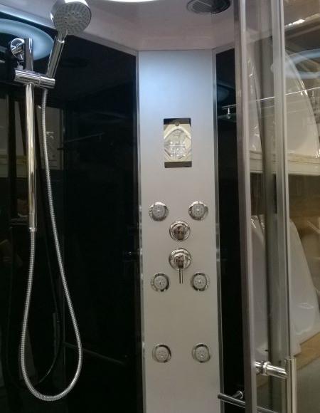 kabina prysznicowa z oswietleniem i radiem, hydromasaż
