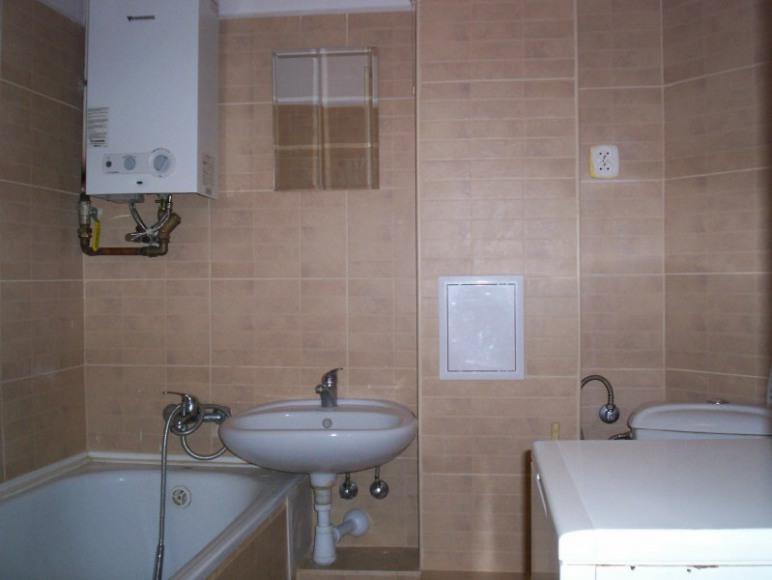Łazienka z nową pralką