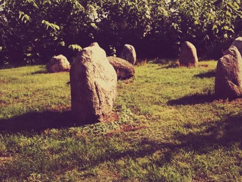 Kamienny krąg (na terenie posesji)
