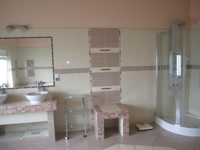 pokój kąpielowy w apartamencie,prysznic z biczami wodnymi