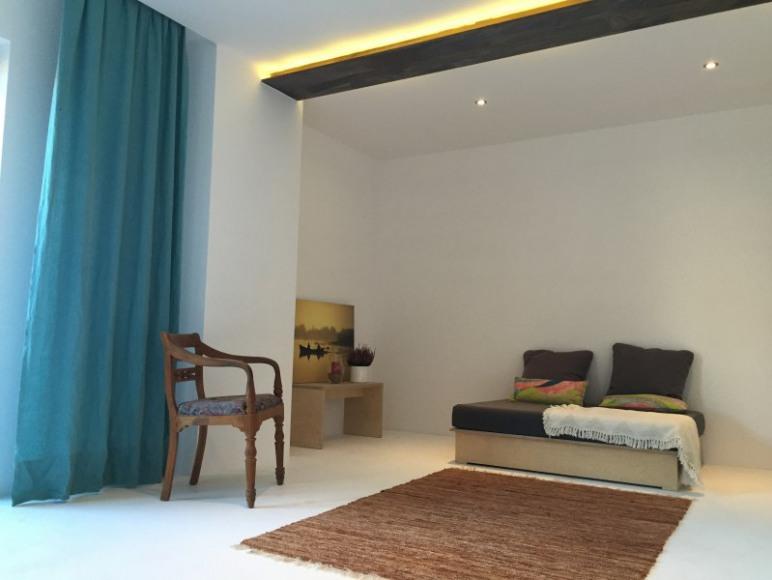 salon wypoczynkowy przy saunie