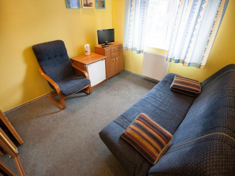 Pokój 2-osobowy bez balkonu. Niewielki ale jakże przytulny!