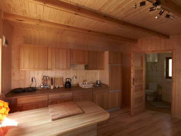 salon z aneksem kuchennym-domek