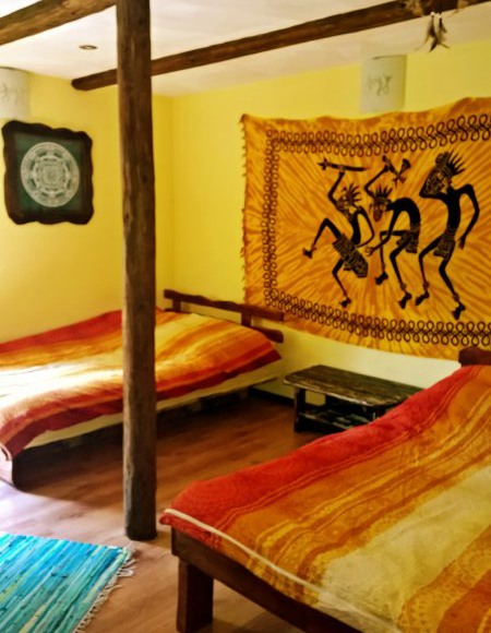 sypialnia na parterze w domku