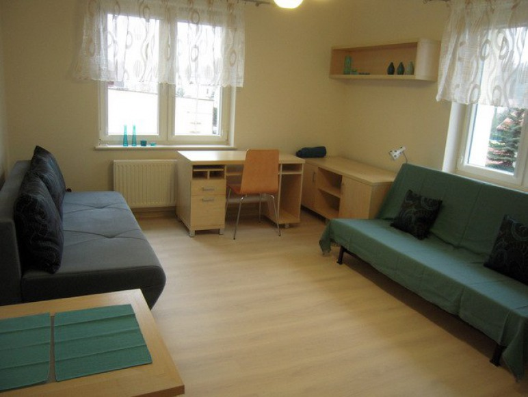 turkusowy pokój