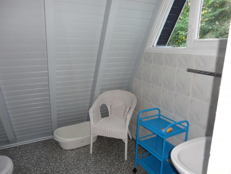 Trampy - łazienka