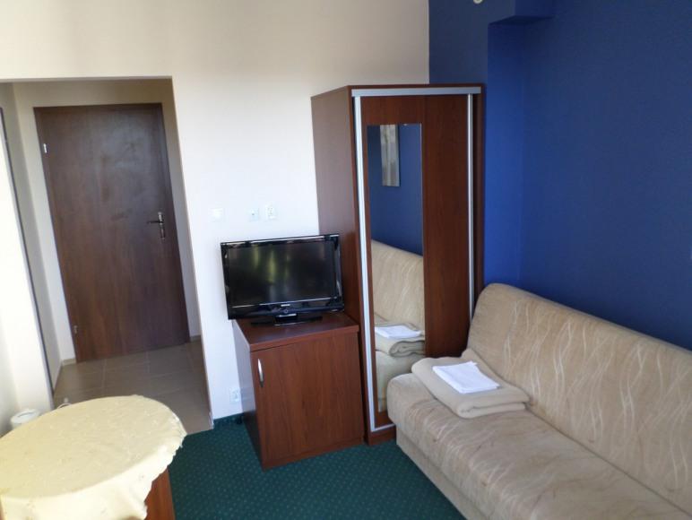 pokój 1 osobowy z balkonem