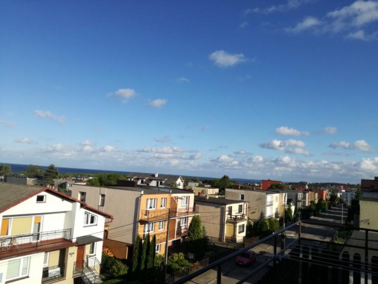 Widok z ogólnodostępnego balkonu.