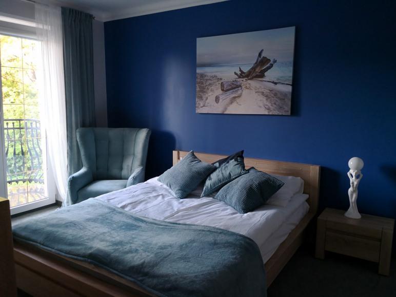 Sypialnia w apartamencie typu A