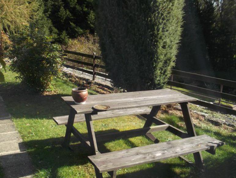 widok z okna wyjście na taras