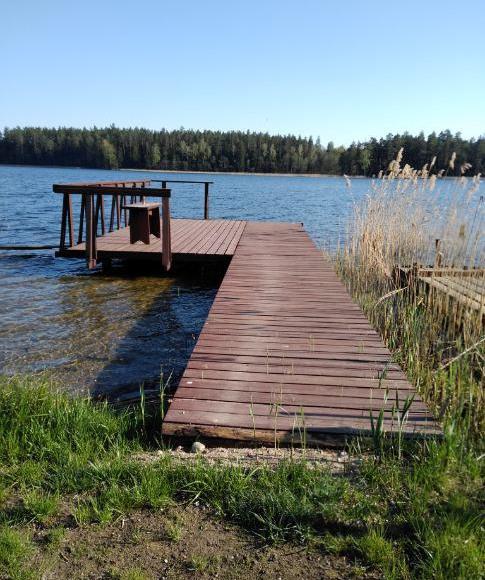 pomost przy Jeziorze Blizno