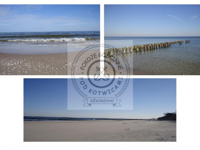 Plaża w Dźwirzynie i Morze Bałtyckie