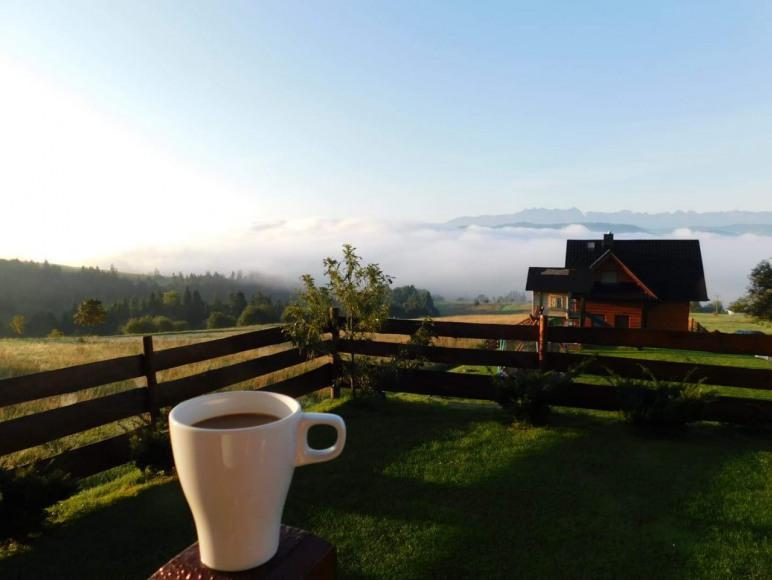 Widok przy kawce z domku nr 1