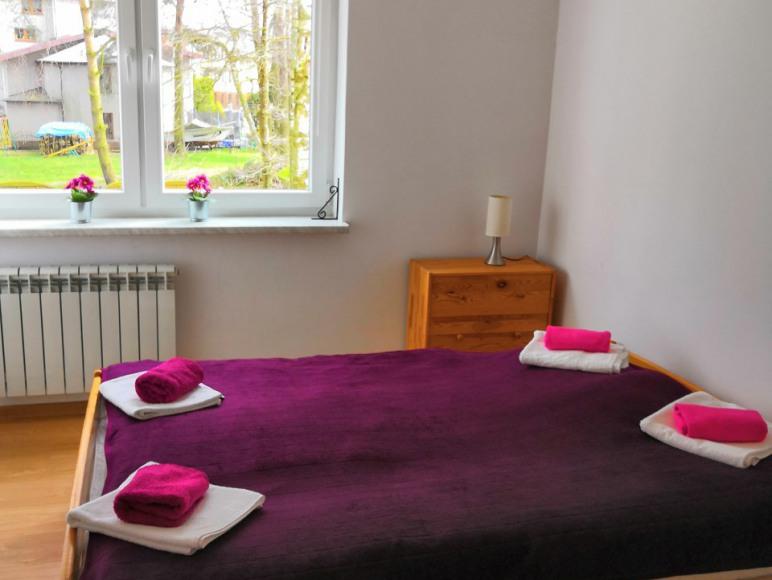 Sypialnia apartamentu 2-4 osobowego