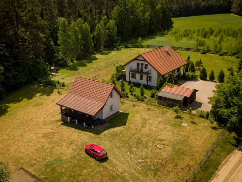 Dom, domek na mazurach do wynajęcia, las, jezioro