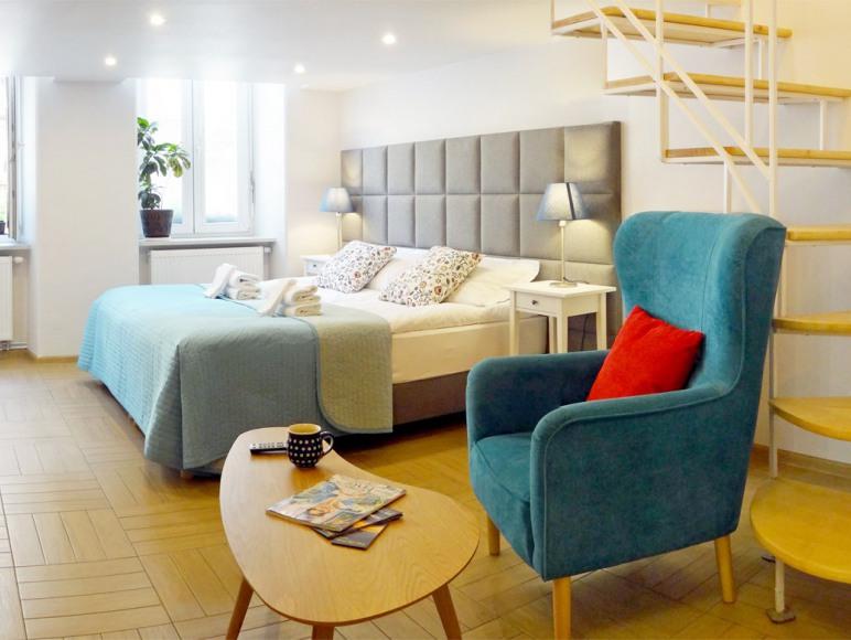 sypialnia z salonem