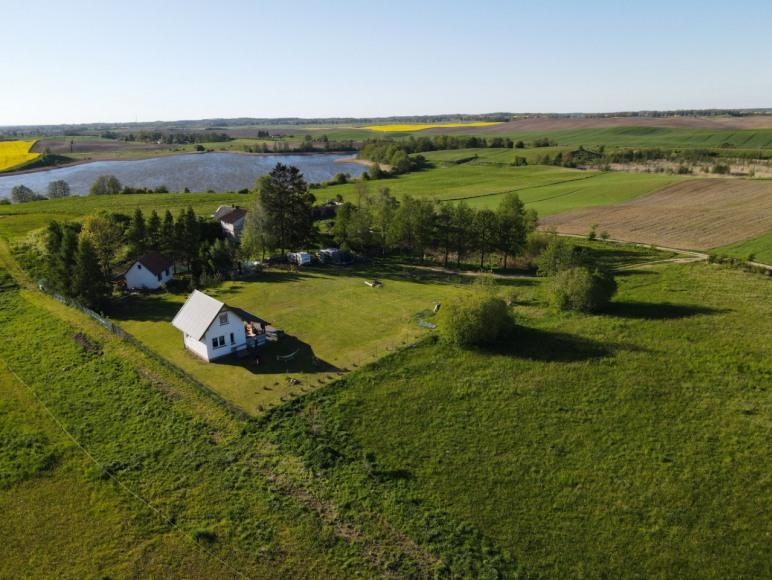 Widok domów z lotu ptaka