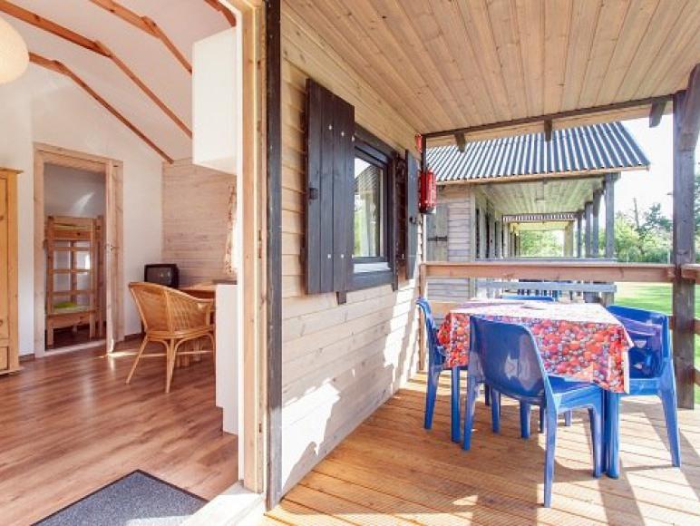 taras domku drewnianego