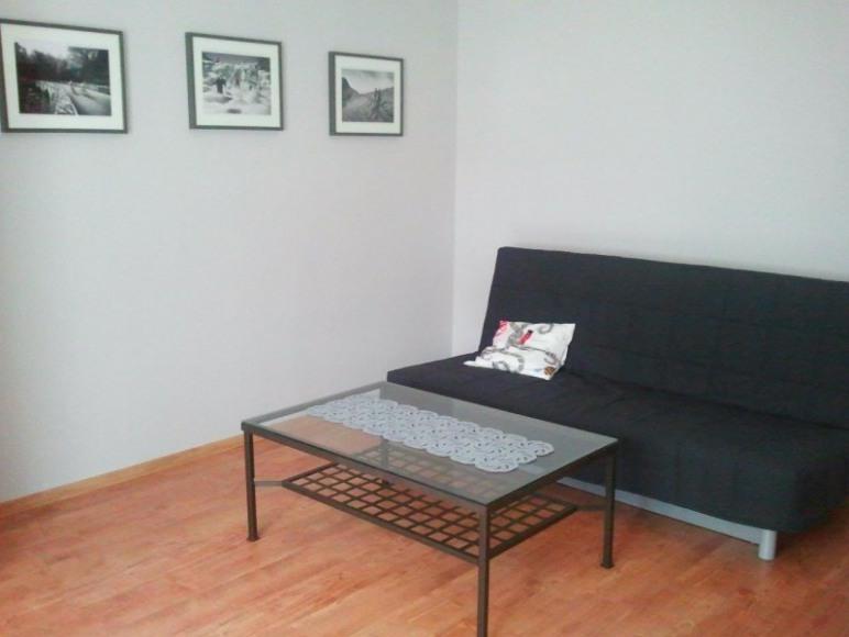 Studio 4 Stronie Śląskie - kanapa dwuosobowa i stolik kawowy
