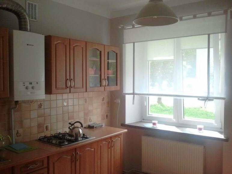 Studio 4 Stronie Śląskie - kuchnia: płyta grzewcza, lodówka, stół jadalny