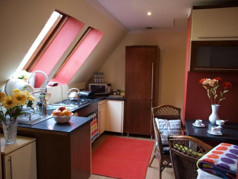 Ogólnodostępna kuchnia do dyspozycji gości