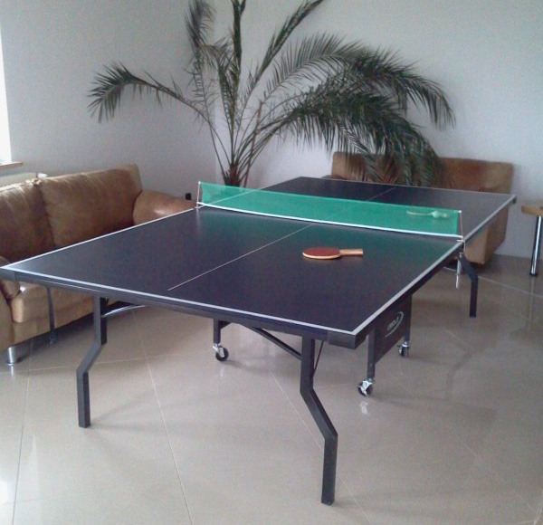 Dla gosci stol do ping-ponga