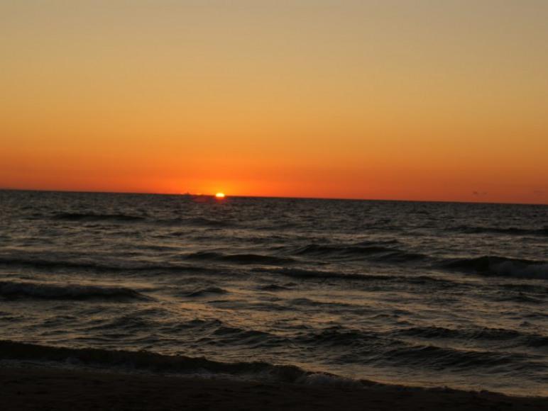 zachód Słońca w Wisełce