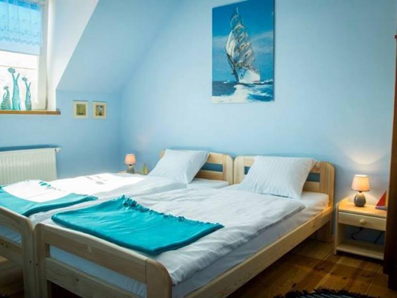 Pokój niebieski. Okna zachodnie. Tv oraz Wi-fi