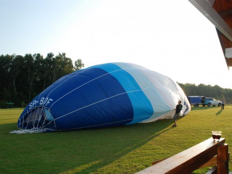 start balonu z Miłoszówki