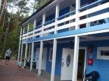Domek piętrowy - niebieski.
