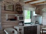 Domek 1 - parter, pokój dzienny z aneksem kuchennym
