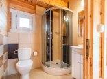 Łazienka z podgrzewaną podłogą.