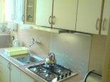 kuchnia z płytą gazową, mikrofalówką