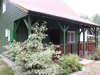 Zielony domek w Wólce Nadbużnej