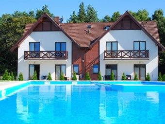 Apartament Lazurowy nad morzem z basenem Łeba