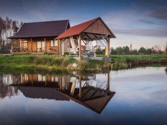 Domki na Kaszubach kominek sauna bania staw