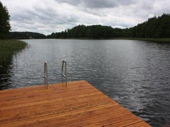 Jezioro Ingieł, widok od strony domku
